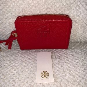 Tory Burch Thea Red ZIP Coin Wallet